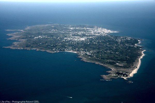 vue aérienne ile d'yeu